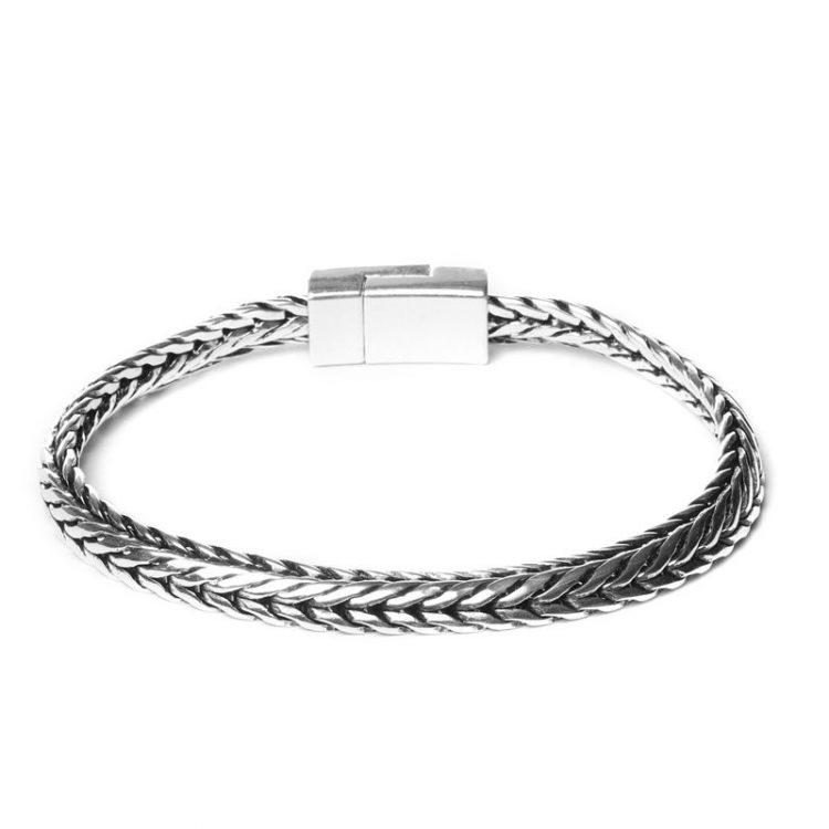 Biba metalen armband met V in V schakel
