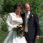 Parels bij een trouwjurk