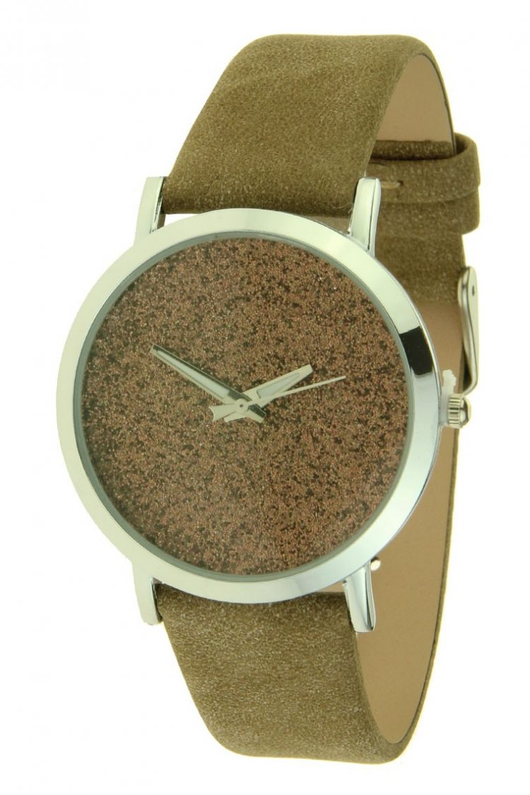 Ernest horloge Nicola taupe-brons