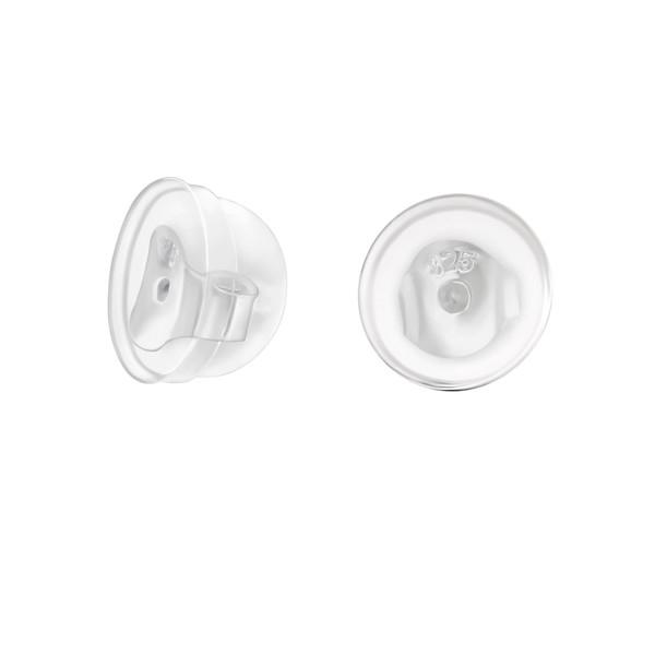 achterkantje voor oorbellen met siliconen