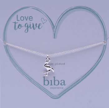 Biba armband flamingo silver plated | Love to give