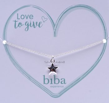 Biba armband met ster silver plated