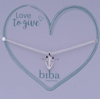 Biba armband silver plated met veer