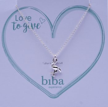 Biba ketting flamingo silver plated | love to give