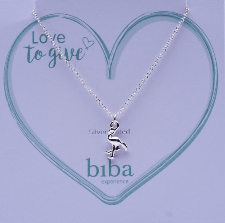 Biba ketting flamingo silver plated | love to give