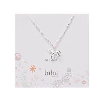 Biba kindersieraden eenhoorn ketting | silver plated