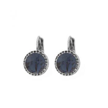 Biba oorhangers blauwe steen met bewerkte rand