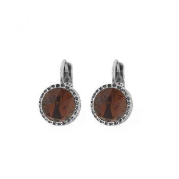 Biba oorhangers met mooie ronde roodbruine steen