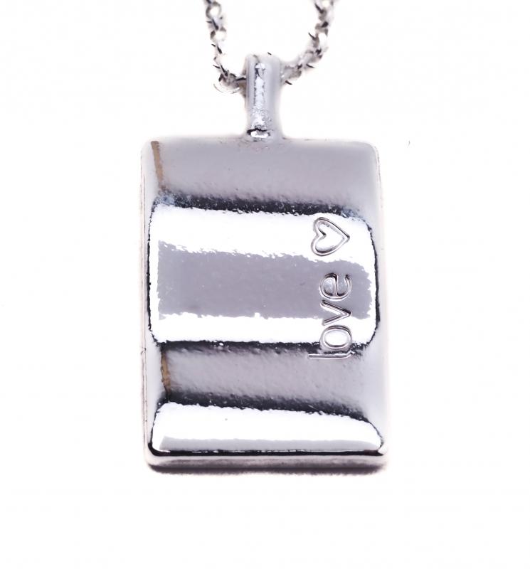 Biba collier met tekst bedel-love glanzend