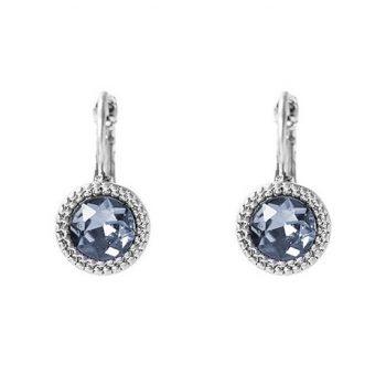 Viva fashion oorbellen black diamond ronde steen