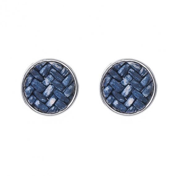 Viva classic oorstekers gevlochten blauw