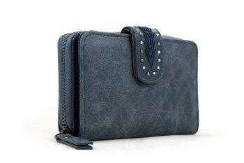 Midden maat portemonnee blauw met handige vakken