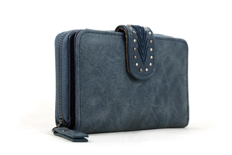 76a04bdead1 Midden maat portemonnee blauw met handige vakken - BlingDings