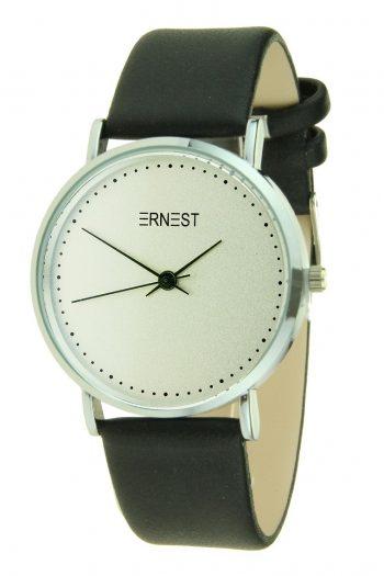 Ernest horloge Silver-Soft - zwart | PU band