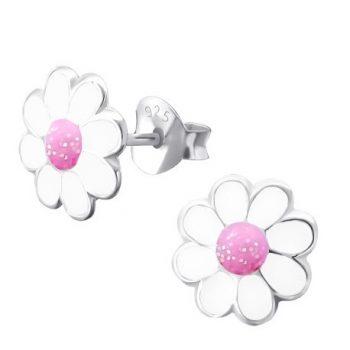 Kinderoorbellen kinderoorbellen bloem wit