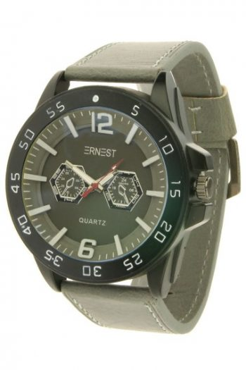 Ernest Flaryn heren horloge-grijs | grote klok