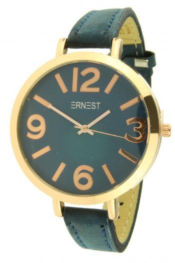 Ernest horloge Arizona donker blauw grote rosé klok
