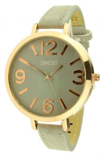 Ernest horloge Arizona grote rosé klok- licht grijs