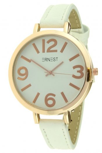 Ernest horloge Arizona grote rosé klok- donker wit