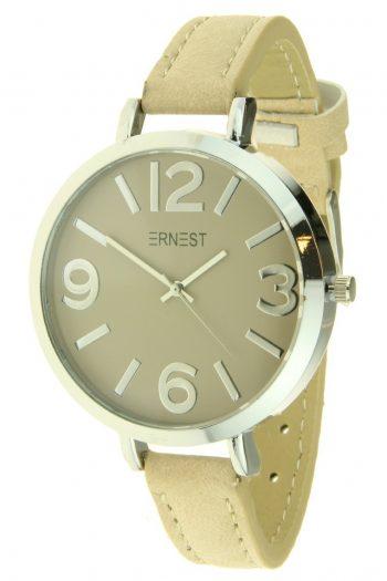 Ernest horloge Arizona beige grote klok