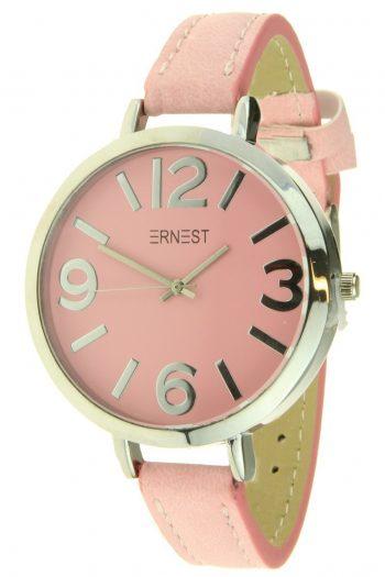 Ernest horloge Arizona roze dames grote klok