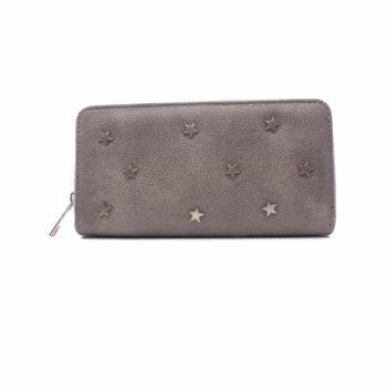 Portemonnee met metalen sterren-grijs