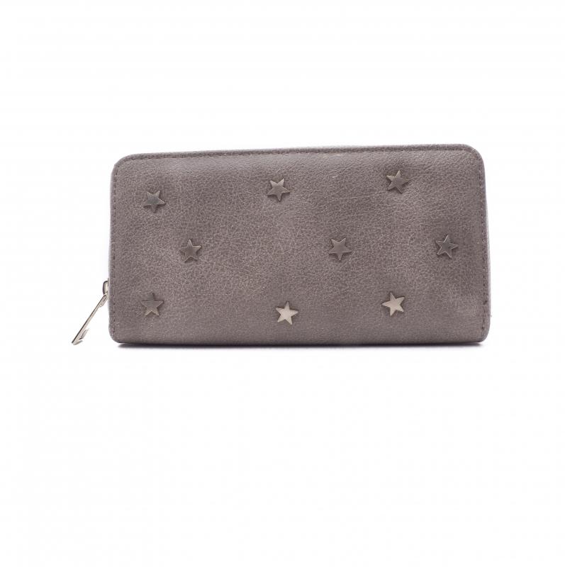 b9f83303199 Portemonnee met metalen sterren-grijs - BlingDings