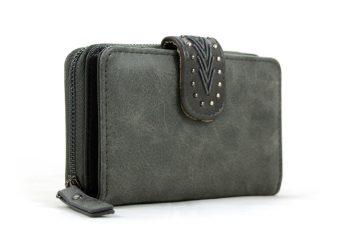Midden maat portemonnee grijs met handige vakken