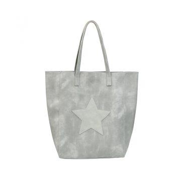 City shopper met binnentas -grijs