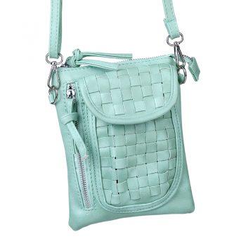 Trendy tas met gevlochten uitstraling-groen