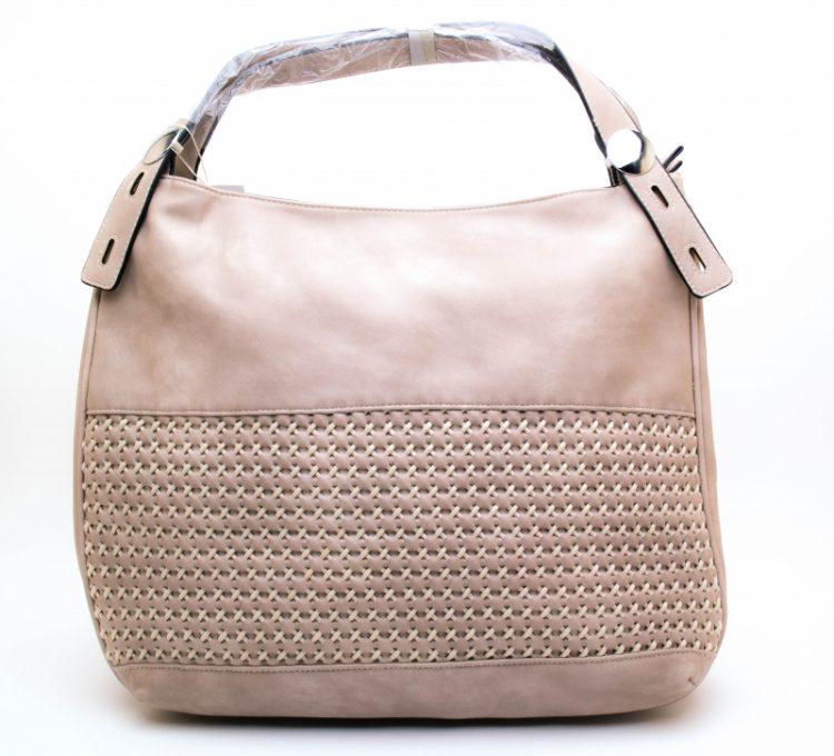 Handtas met gevlochten voorkant
