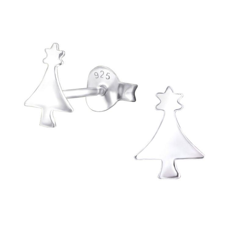 Kerstboom oorbellen met ster