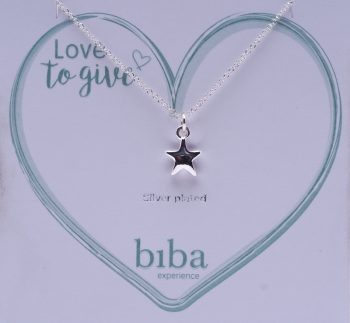 Biba ketting ster silver plated | love to give