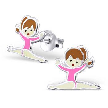 Turn oorbellen roze pakje zilver