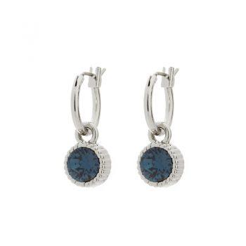 Biba oorringen met mooie kleine ronde montain blauwe steen