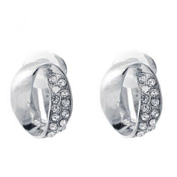 clip oorbellen zilver met steentje