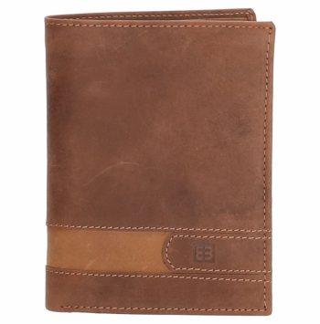 Lederen portemonnee bruin-cognac Enrico Benetti