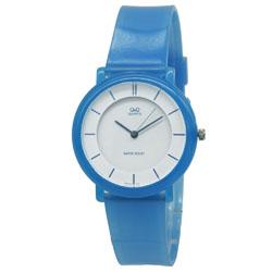 Blauw unisex Q&Q horloge | kunststof band