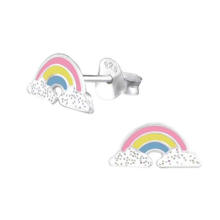 Kinderoorbellen gekleurde regenboog in pastel tinten