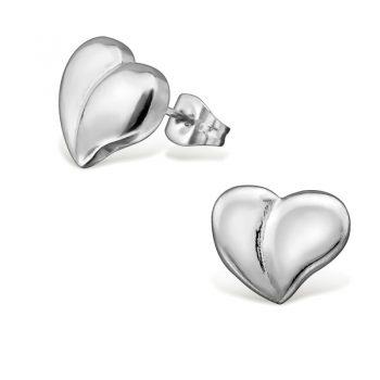 RVS oorbellen-zilverkleurig hart oorbellen