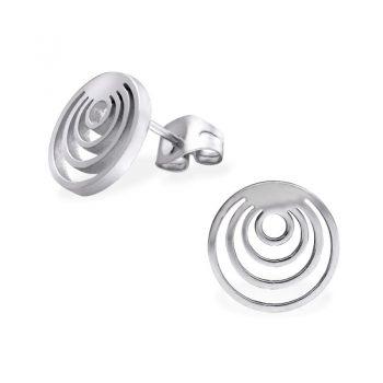 RVS oorbellen-rondjes klein naar groot