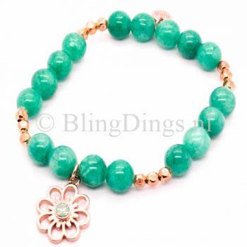 Biba armbandjes mix & match met bloem groen