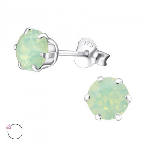 Oorbellen met Swarovski steen groen