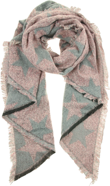 Sjaal met sterren-grijze tinten