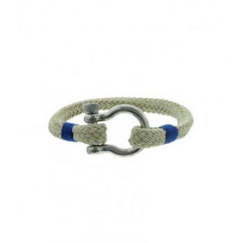 Heren armband van koord met stainless steel sluiting