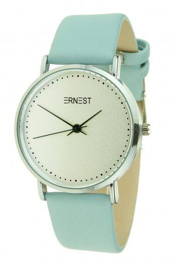 Ernest horloge licht blauw Silver-Soft