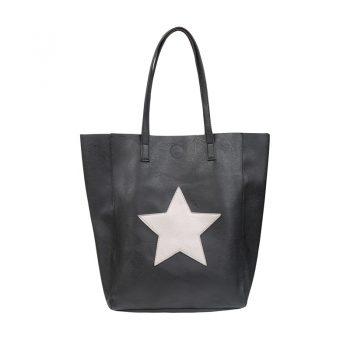 City shopper met binnentas - zwart
