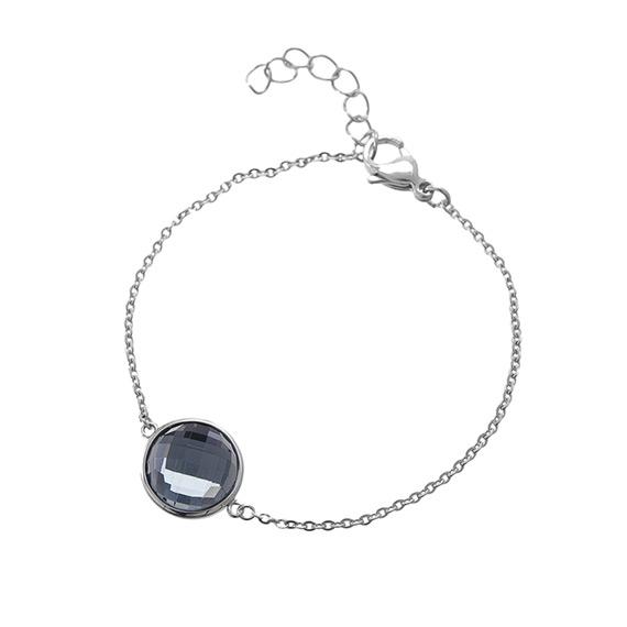 Viva armband met steen black diamond