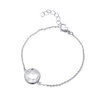 Viva luxury armband glazen facet geslepen steen- crystal