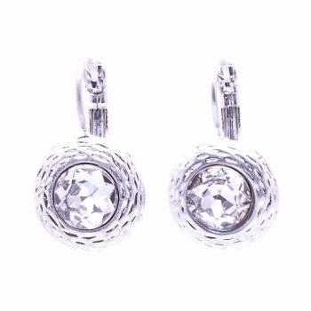 xViva fashion oorbellen crystal ronde steen
